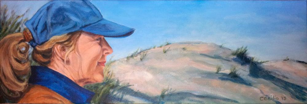 Eveline in de duinen